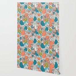 Botanical pattern 011 Wallpaper
