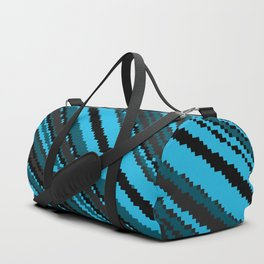 Blue Gray and black abstract Duffle Bag