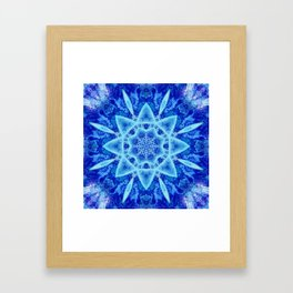 Ice Matrix Mandala Framed Art Print