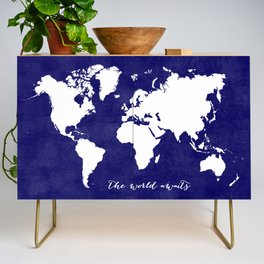 The world awaits in navy blue Credenza