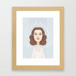 Hedy Lamarr Poster Print - Star Dress - Art Print - Illustration Framed Art Print