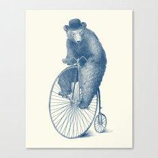 Morning Ride - Blue Option Canvas Print