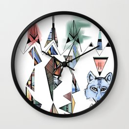 Mountian Wolves  Wall Clock