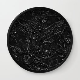 Raven Rage Wall Clock