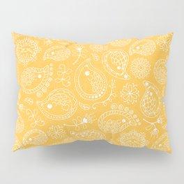 Hedgehog Paisley_Yellow Pillow Sham
