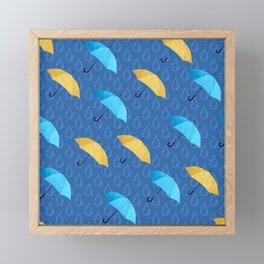 Spring Umbrellas fresh pattern Framed Mini Art Print