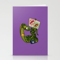 anaconda Stationery Cards featuring Anaconda Buns by Artistic Dyslexia