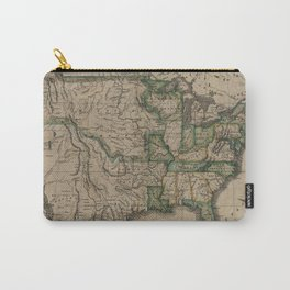 Vintage Map of The United States (1823) Carry-All Pouch
