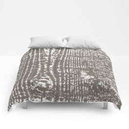 Tree Bark in Driftwood Brown Gray Comforters