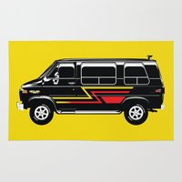 van Area & Throw Rugs featuring Classic Van by Eyes Wide Awake