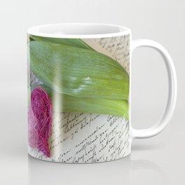 pink spring Tulips with heart Coffee Mug