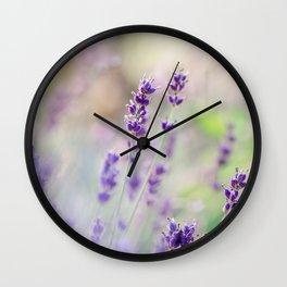Lavender Loveliness Wall Clock
