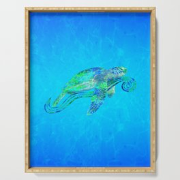 Sea Turtle Graphic Serving Tray