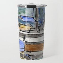 Boats and the River Travel Mug