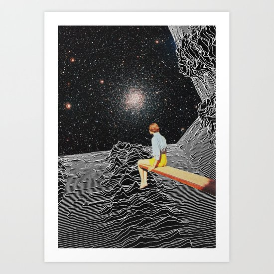 unknown pleasures to Infinity Art Print
