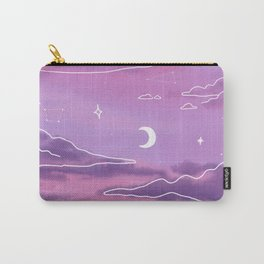Purple Sunset View Carry-All Pouch