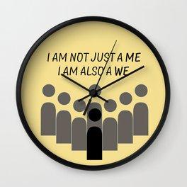 Sense8 - i am also a we  Wall Clock
