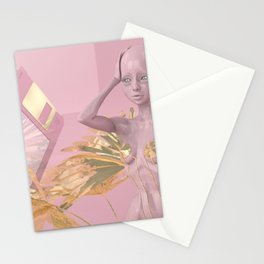 Pastel Humanoid Diskette Stationery Cards