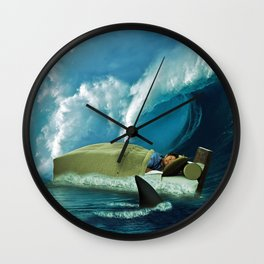 Sleeping with Sharks Wall Clock