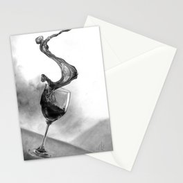 Dine with fine wine Stationery Cards