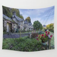 cafe Wall Tapestries featuring Lakeside Cafe by Ian Mitchell