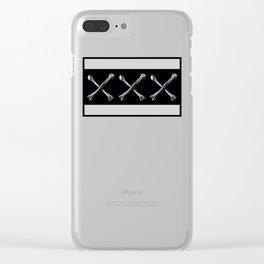 XXX Bones Traditional Tattoo Clear iPhone Case