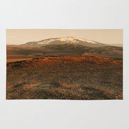 Cold desert in sunset light Rug