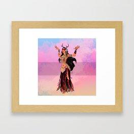 Oriental Dancer - Pocahontas Framed Art Print