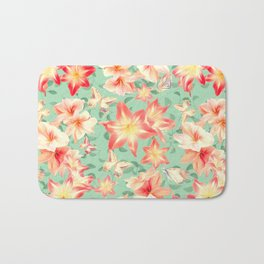 Spring Amaryllis and Butterflies Bath Mat