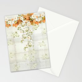 Delicate Flower Trellis Stationery Cards