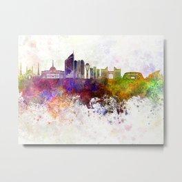 Astana skyline in watercolor background Metal Print