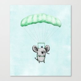 Cutie Parachuting Elephant Canvas Print