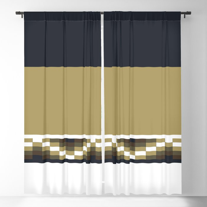 Block Wave Illustration 2 Thick Bold Horizontal Lines Digital Artwork Blackout Curtain