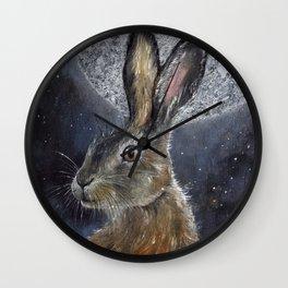 Silver Light of Moon Wall Clock