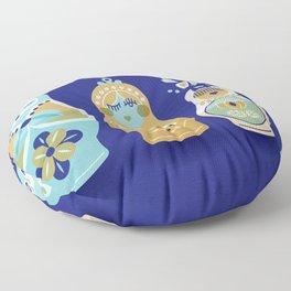 Russian Nesting Dolls – Navy Floor Pillow