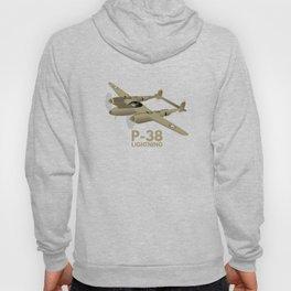 WW2 P-38 Lightning Airplane Hoody