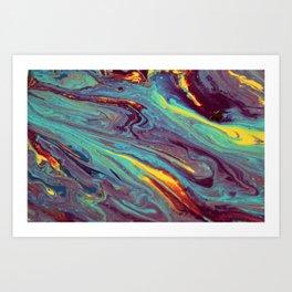 Acid galaxy Art Print