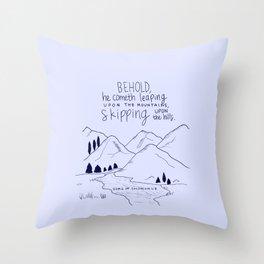 Skipping Throw Pillow