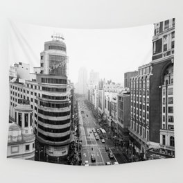 Gran Via in Madrid Wall Tapestry