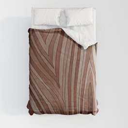 Brown Wood Grain Comforters