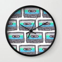 Cassette Patten *Light Blue Wall Clock