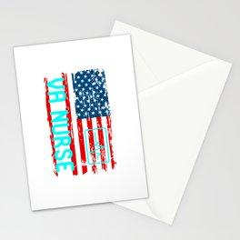 VA Nurse American Flag Stationery Cards