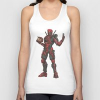 halo Tank Tops featuring Halo/Deadpool  by Molly Thomas