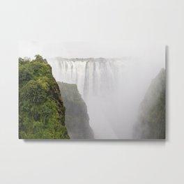 Misty Falls Metal Print