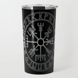 Vegvísir (Icelandic 'sign post') Symbol - REEL STEEL Travel Mug