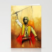 enjolras Stationery Cards featuring Enjolras, III by Flávia Marques