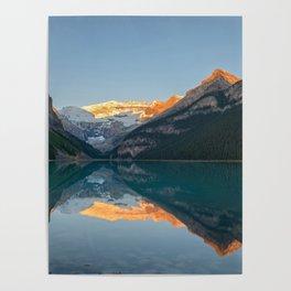 LAKE LOUISE AUTUMN SUNRISE - BANFF NATIONAL PARK CANADA - LANDSCAPE NATURE PHOTOGRAPHY Poster