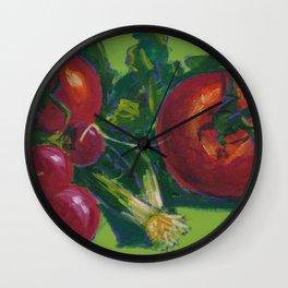 Tomatoes & Radishes Wall Clock