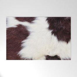 Cowhide Fur Welcome Mat