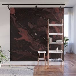 Abstract Astronomy in Crimson Red Wall Mural